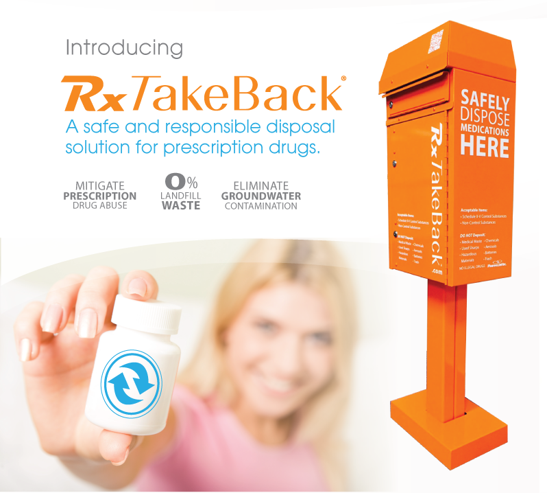 Introducing RxTakeBack, a safe and responsible disposal solution for prescription drugs.